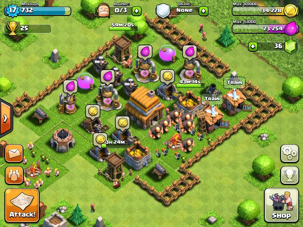 El juego de estrategia Clash of Clans