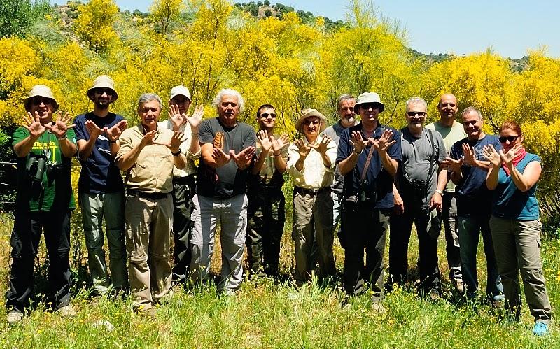 Grupo local SEO-Sevilla de SEO/BirdLife celebrando el Día Europeo de la Red Natura 2000 con una excursión al Peñon de Zaframagón el 18 de mayo