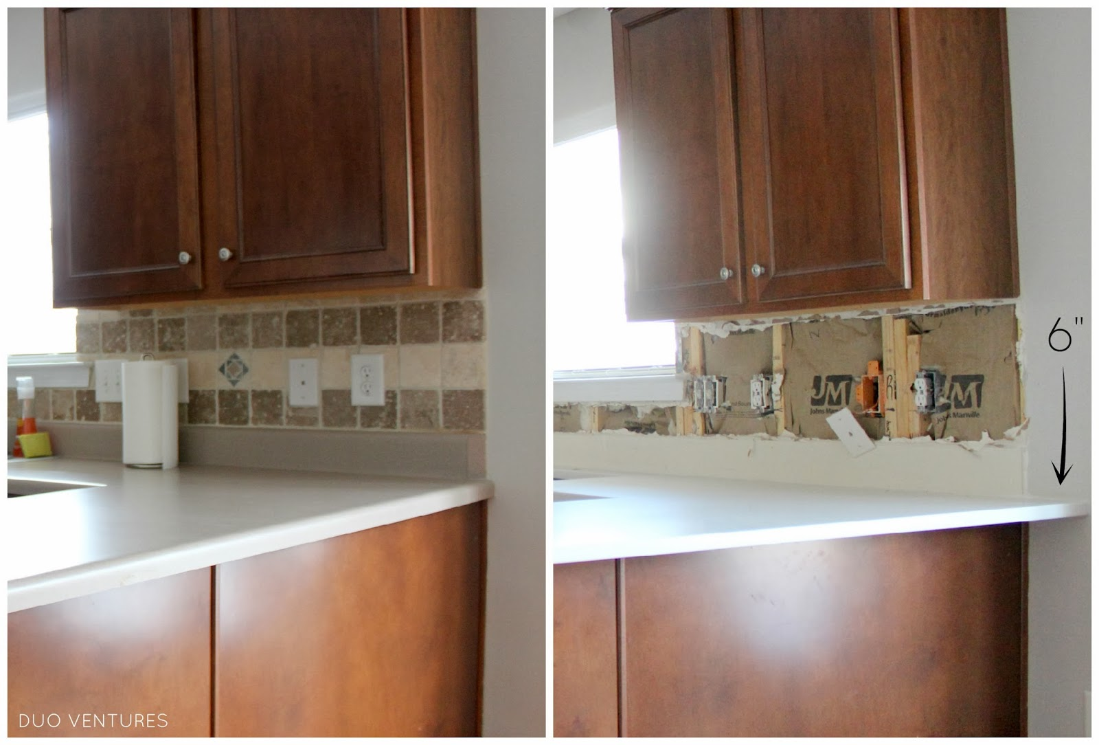 Kitchen Backsplash Edge duo ventures: kitchen makeover: subway tile backsplash installation