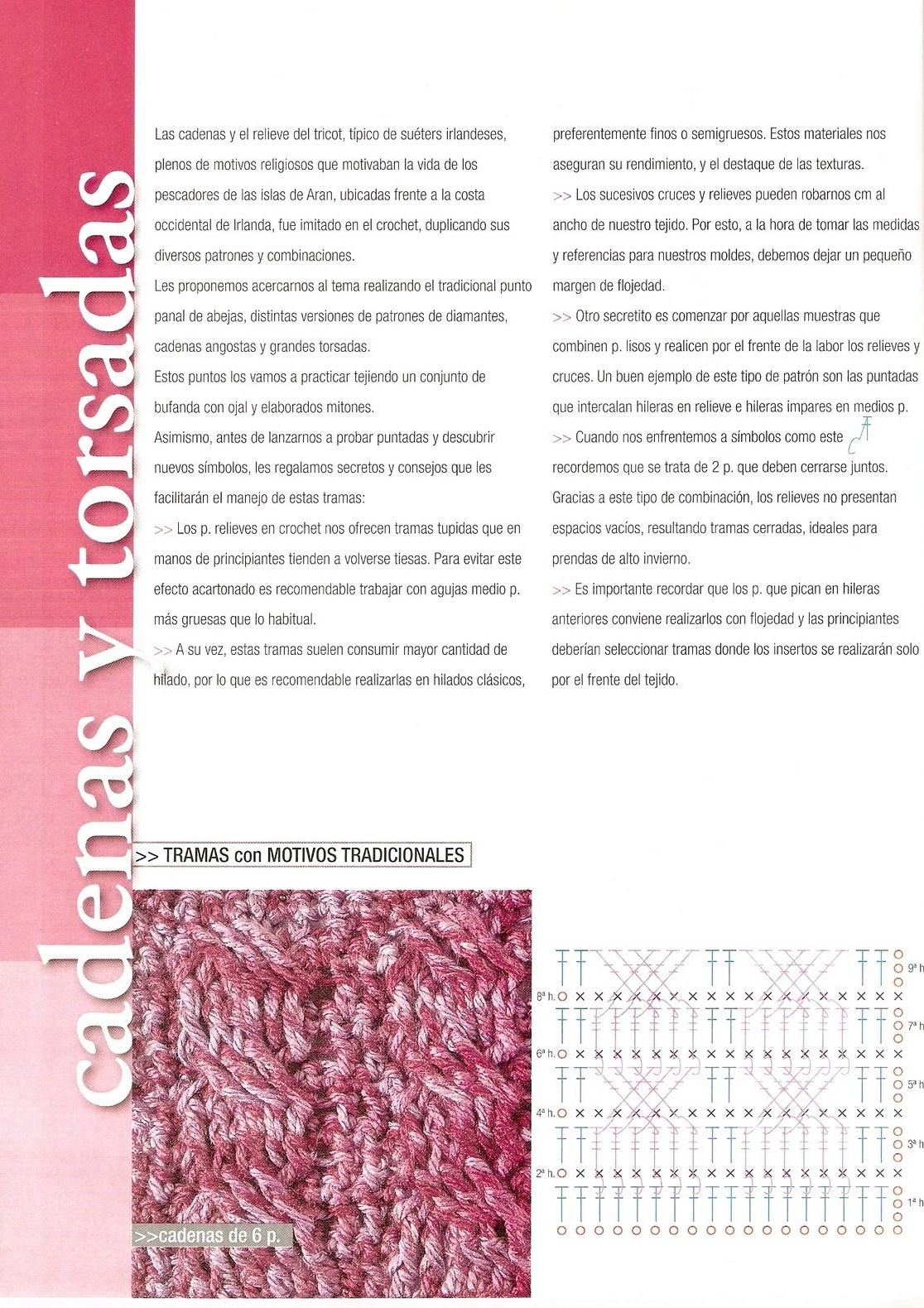 Fantástico Patrón De Crochet Bufanda Trenzada Festooning - Ideas de ...
