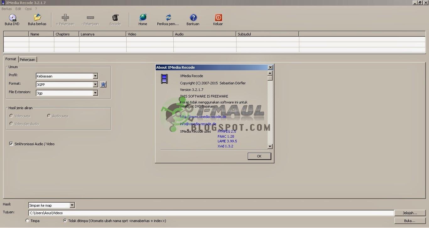 Download XMEdia Recode Terbaru