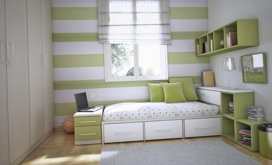 Dicas quarto de solteiro feminino Belas Artes ~ Quarto Verde Solteiro