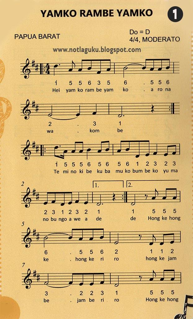 angka lagu yamko rambe yamko