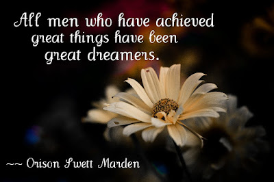 All men who have achieved great things have been great dreamers.  {Reading List}