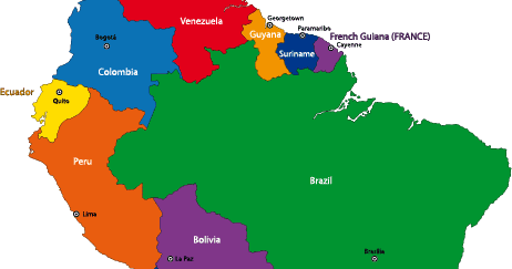 Mapa Político De Sudamérica Vector Vector Clipart - Mapa de sur america