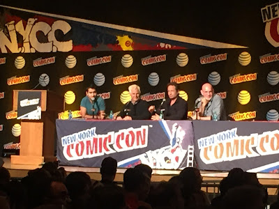 comic con comiccon nycc nyc x files aliens believe truth fox mulder skinner scully chris carter scifi sci fi