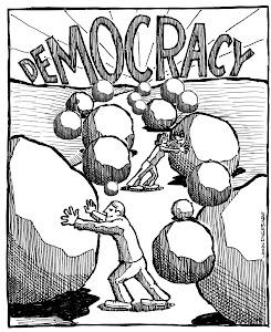 در قاب تصویر: پیمودن راه سخت دموکراسی محتاج صبر،استقامت ،مداومت و یا همان حرکت آهسته اما پیوسته است