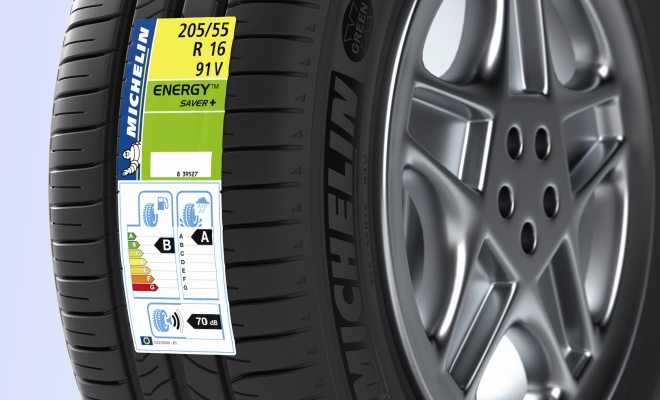 Michelin Energy Saver+ tyre with european tyre label