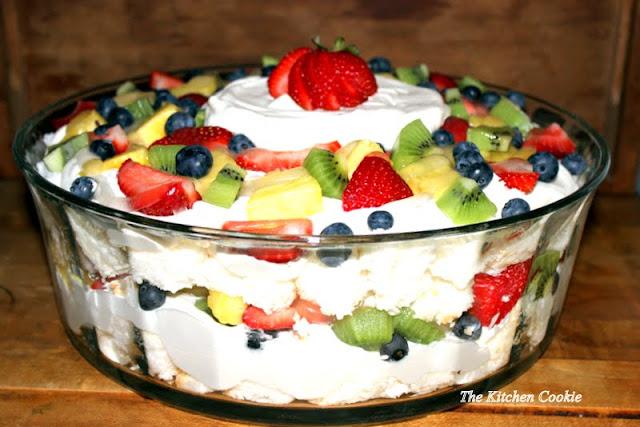 ... : White Chocolate Cream & Angel Food Trifle with Fresh Fruit