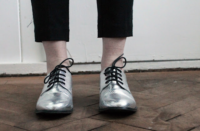 asos mermaid brogues silver