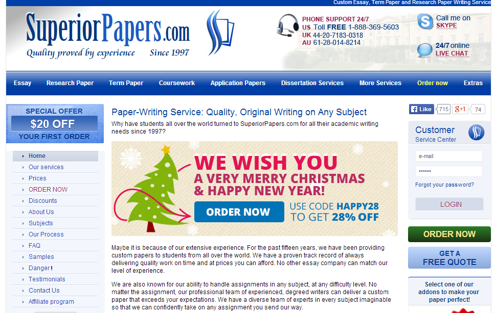 Custom Term Paper Writers Services
