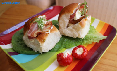 Carole's Chatter: Pancetta Sliders with Heirloom Tomato