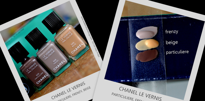 Chanel Le Vernis Frenzy Versus Comparisons Beige Particuliere Nail Polishes