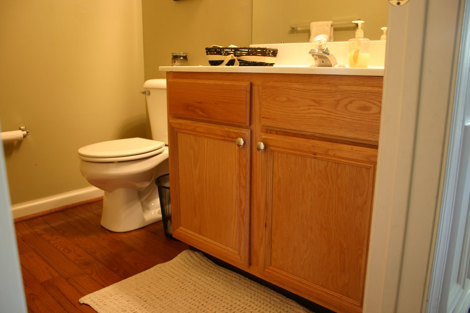 This builders grade vanity has GOT TO GO. The  Bathroom  Game Plan   East Coast Creative Blog