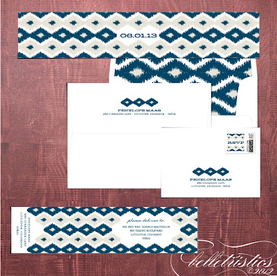 bold modern ikat printable diy invitation design