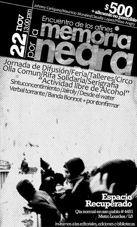QUINTA NORMAL: ENCUENTRO DE LOS AFINES POR L A MEMORIA NEGRA
