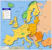 Mapa da Europa Político Regional (mapa da europa)