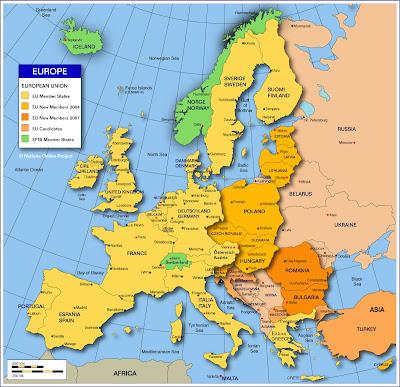 Mapa da Europa Político Regional