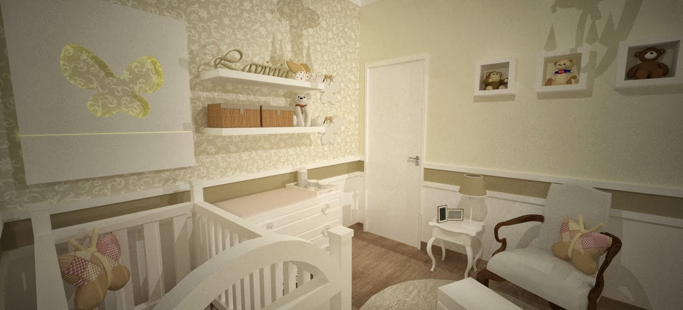 Flavia Pontes Arquitetura Outubro 2013 ~ Quarto Lilás E Branco Com Quarto Neutro Para Bebe