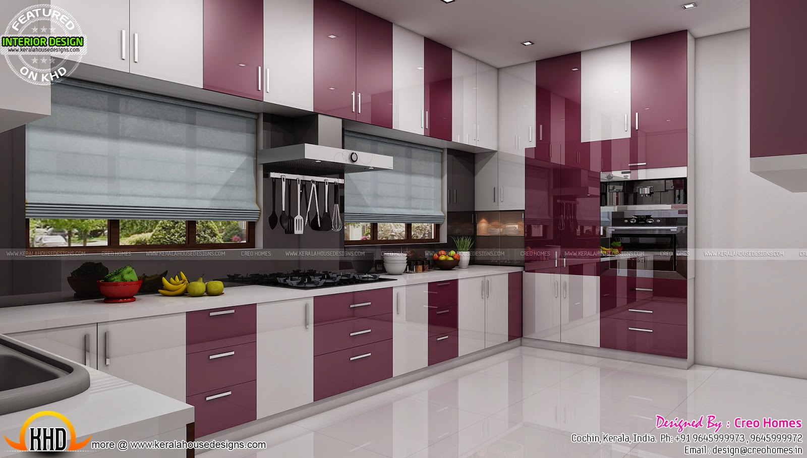 Living prayer kitchen interiors kerala home design and for Kitchen design kerala