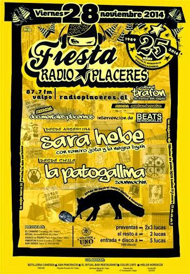 VALPARAISO:FIESTA ANIVERSARIO 25 RADIO PLACERES