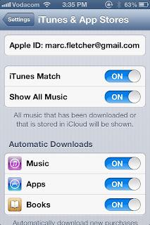 iTunes Match Settings