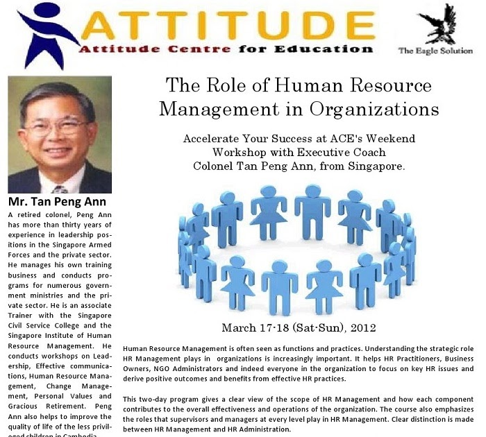 role of human resources in organizations Some human resources managers oversee all aspects of an organization's human resources department, including the compensation and benefits program and the training and development program in many larger organizations, these programs are directed by specialized managers, such as compensation and benefits managers and training and development.