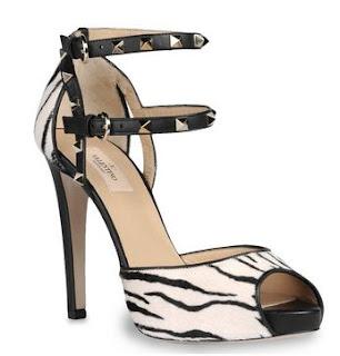 Sandalo zebrato con borchie di Valentino autunno/inverno 2012/13