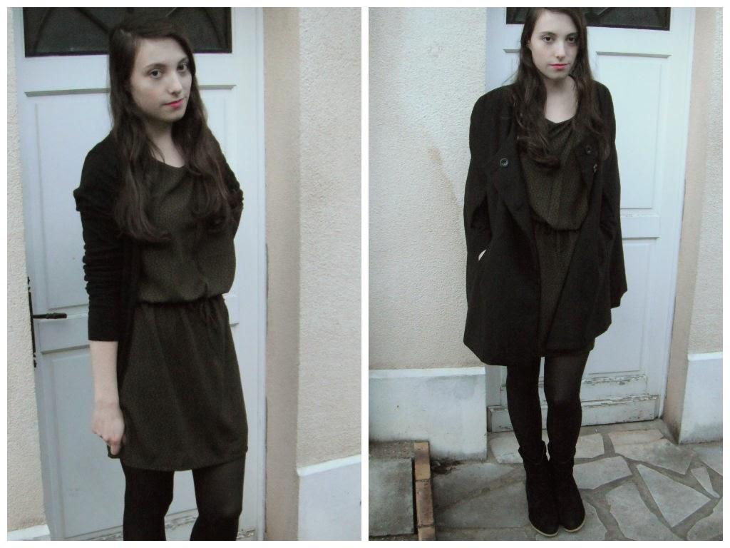 Lookbook hiver 2015 tenue 2 : robe kaki
