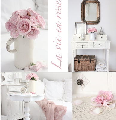 White and shabby roses and more for Weisses tischchen
