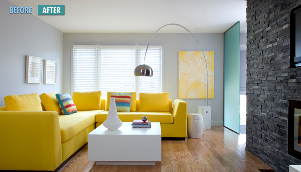 Beautiful creations what colour to paint for Living room yellow accents