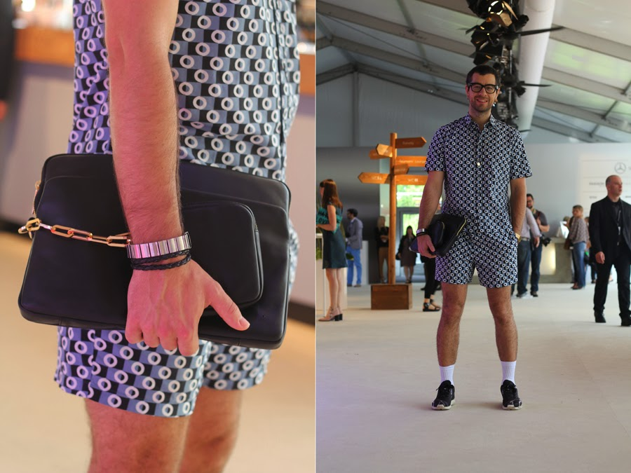 street style mercedes benz fashion week berlin bag stylist romper