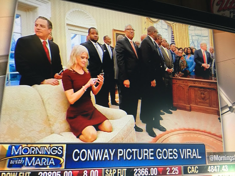 Kellyanne's Feet on the Oval Office Couch