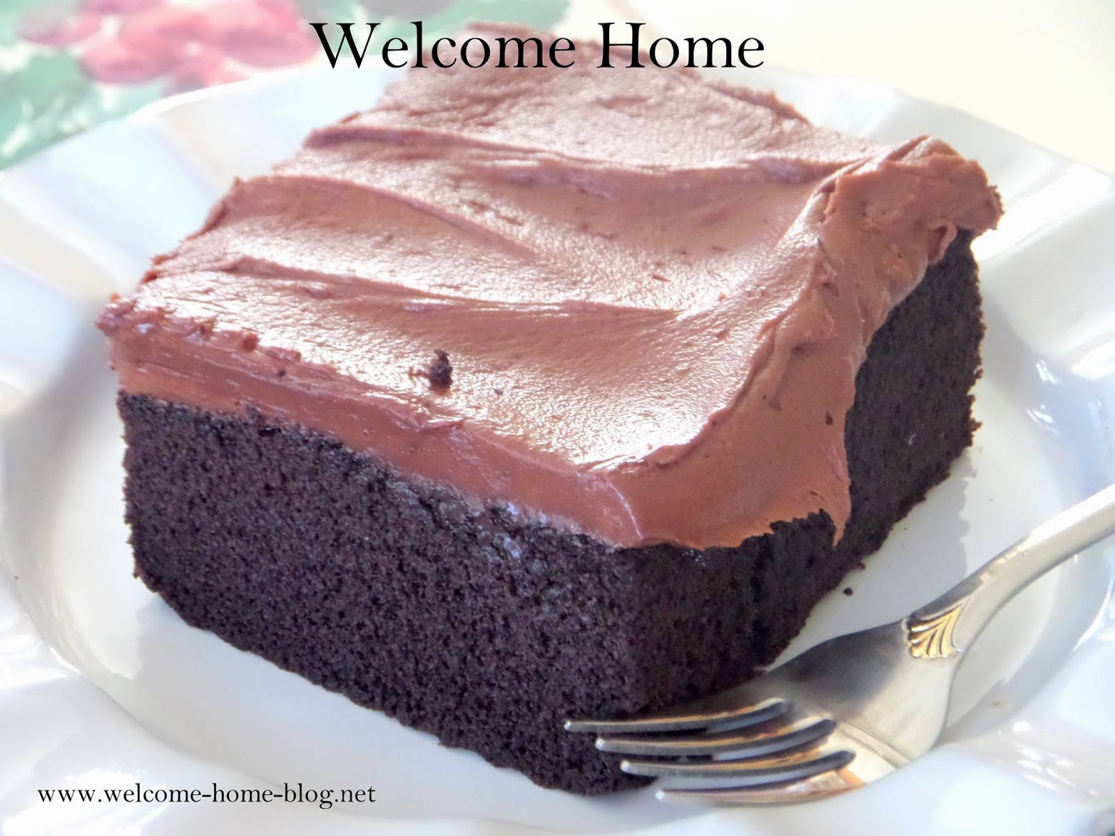 Welcome Home Blog Classic Chocolate Cake With Buttercream Frosting