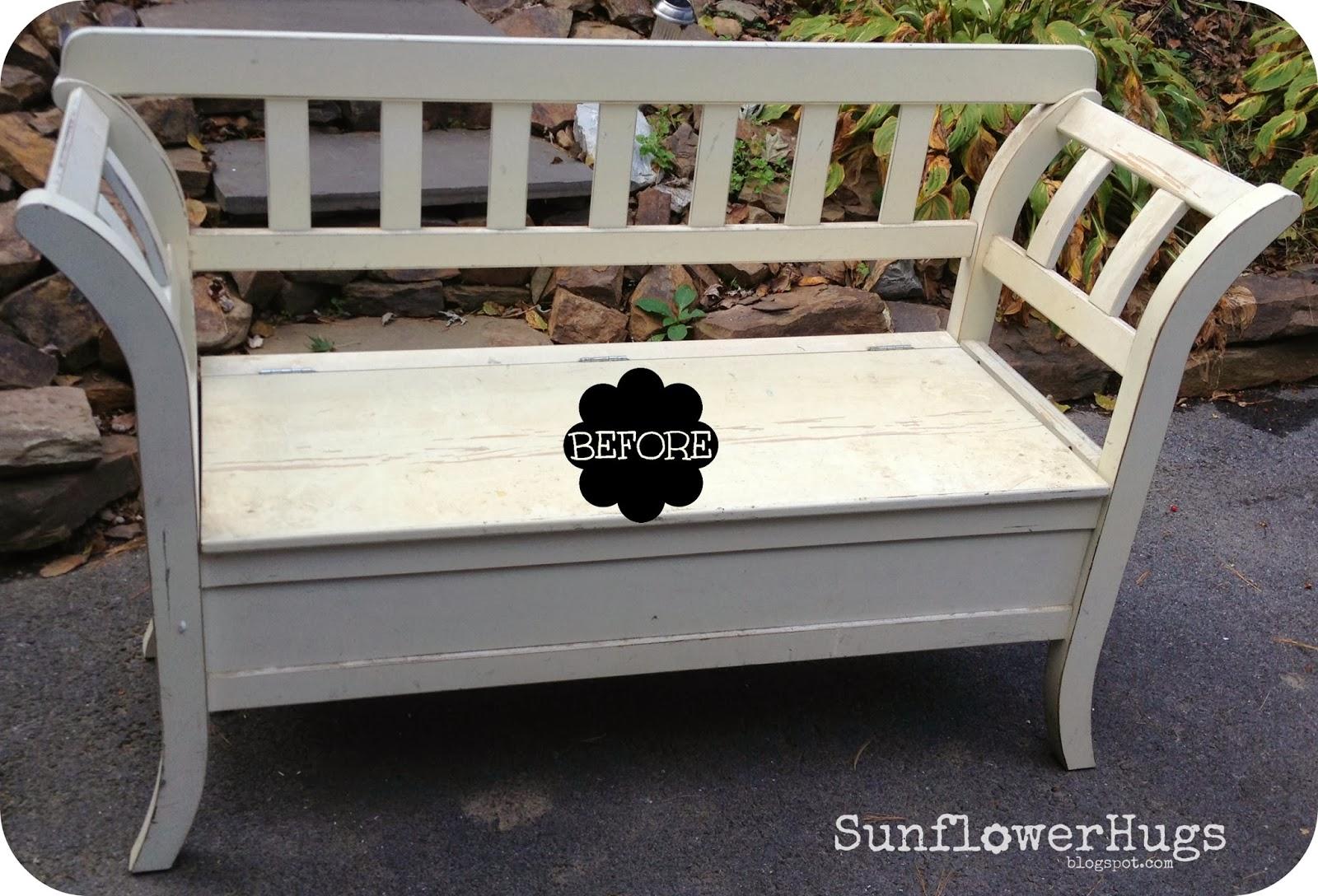 Pretty Green Storage Bench & SunflowerHugs: Pretty Green Storage Bench