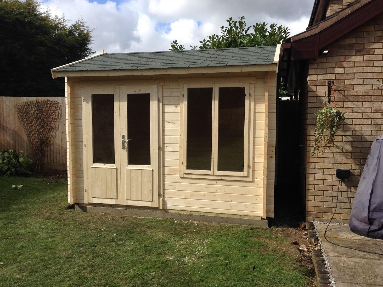 Warminster log cabins bespoke garden workshop for Bespoke garden office
