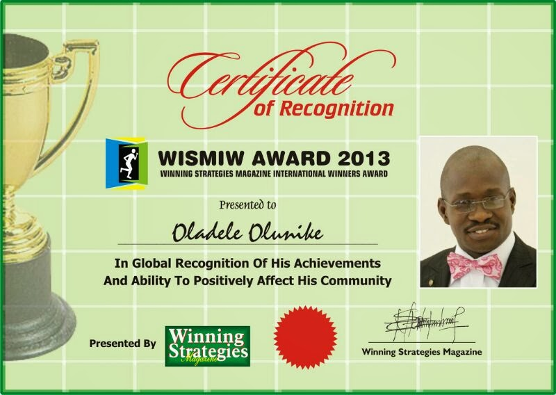 WISMIW AWARD 2013