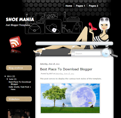 Shoe Mania Blogger Theme