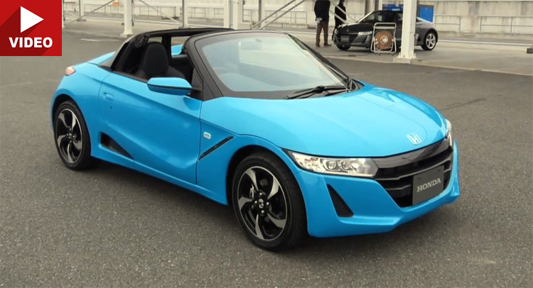 Watch Honda's New S660 Mini Roadster Test Driven In Japan