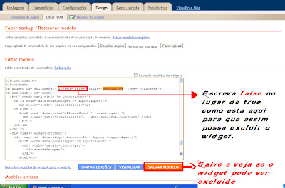 modificando o blog 4, widgets