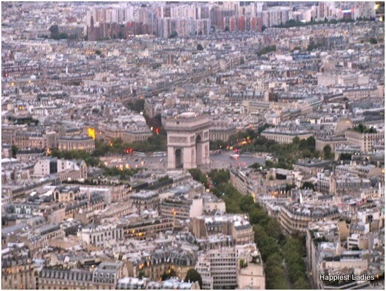 Arc de Triomphe from Eiffel Tower
