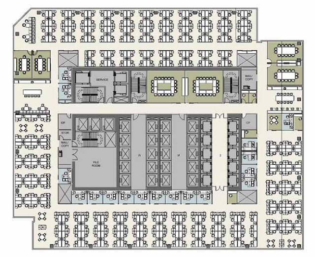 North tower base floor plan