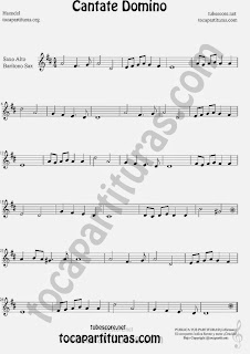 Cantate Domino  Partitura de Saxofón Alto y Sax Barítono Sheet Music for Alto and Baritone Saxophone Music Scores