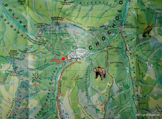 Schronisko PTTK na Polanie Chochołowskiej na mapie