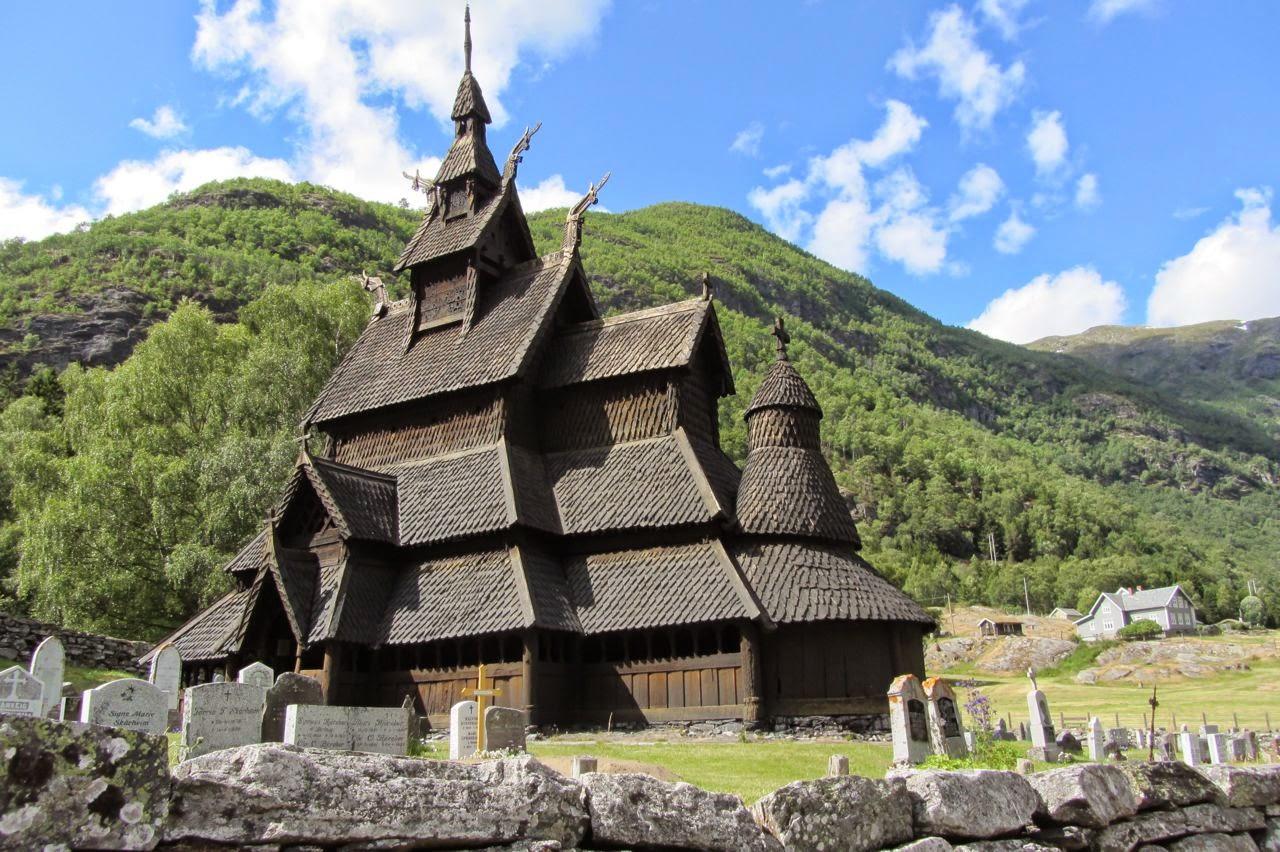 Noorwegen staafkerk Borgund