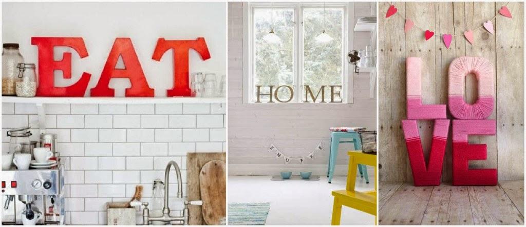 Las letras como pieza estrella - Ideas para decorar letras de madera ...