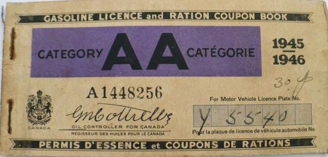 Depression era ration coupons