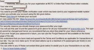 IRCTC New User Account User Name, Password and Validation Link Send to Email Id  www.jobzres.blogspot.com
