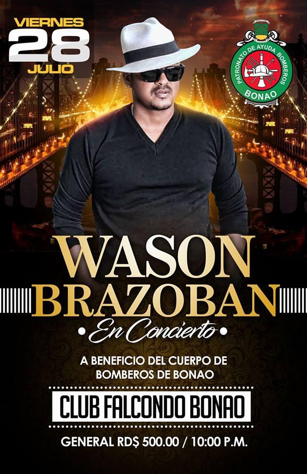 WASON BRAZOBAN CANTARA EN BONAO A FAVOR BOMBEROS