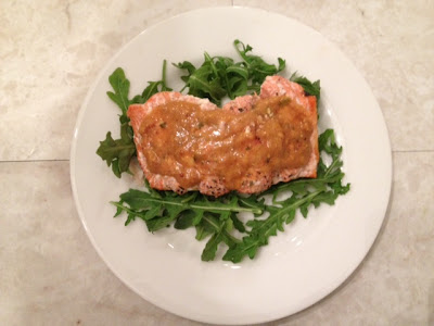 Grilled Salmon With Papaya-Mustard Sauce Recipe